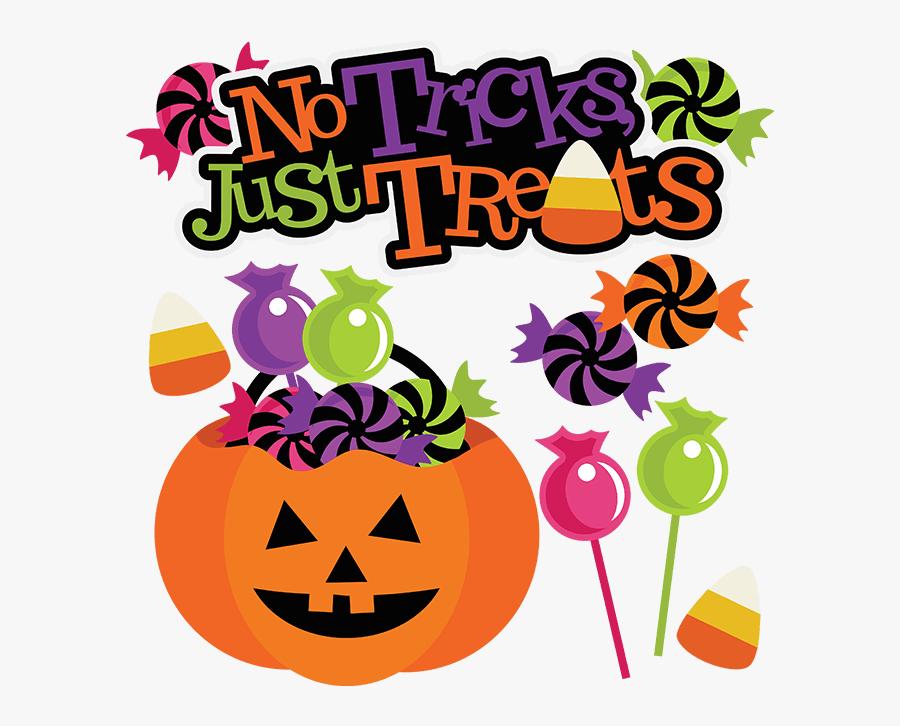 No Tricks Only Treats Halloween, Transparent Clipart