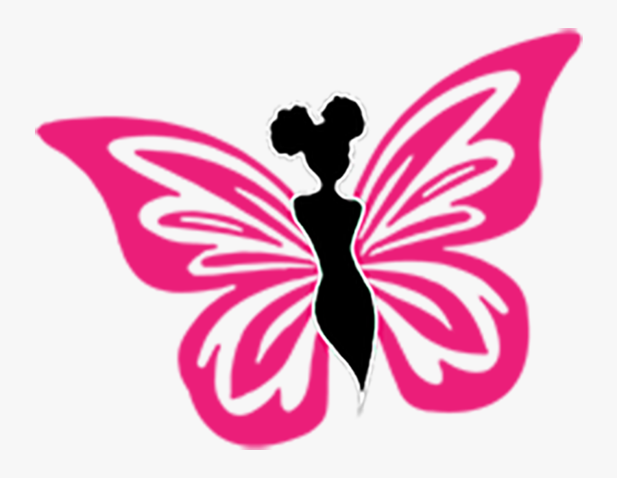 Clip Art Pink And Black Butterflies - Beautiful Butterfly Logo Png, Transparent Clipart