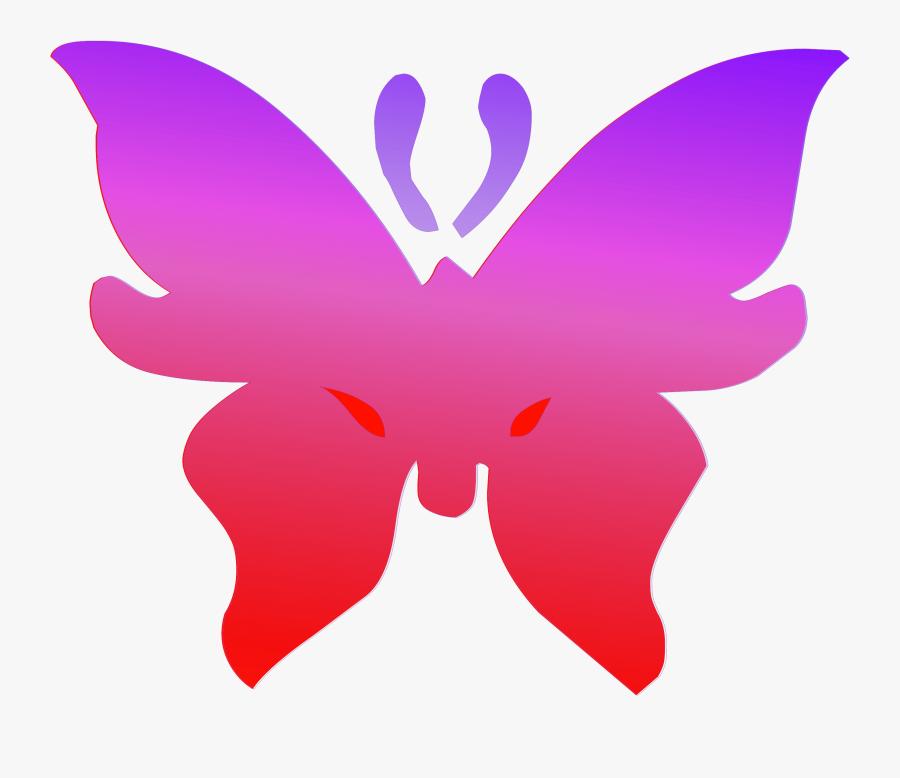Clipart Butterfly Outline Purple, Transparent Clipart