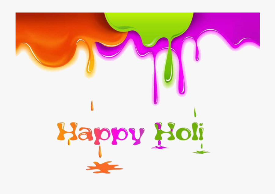 Happy Holi Text Png Picture - Happy Holi Png Background, Transparent Clipart