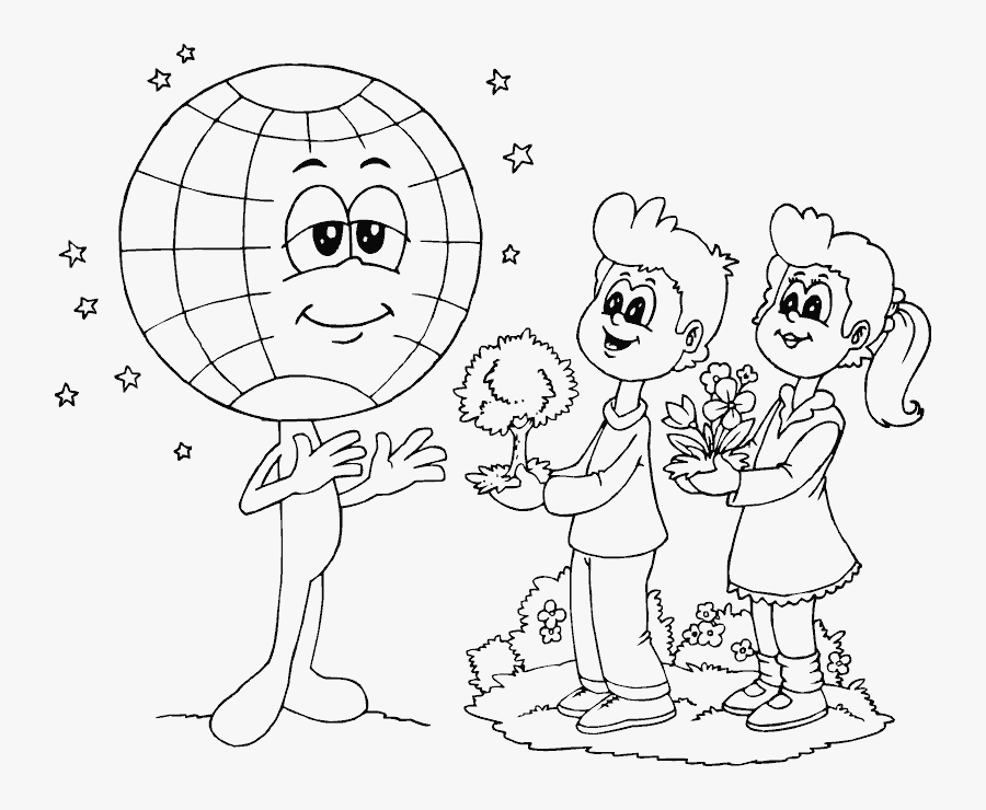 Save The Earth Printable Coloring Pages - Save The Earth Coloring Page, Transparent Clipart