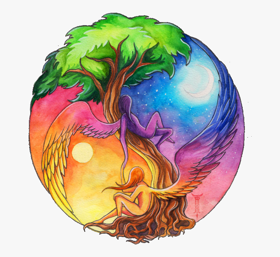 Poster On Save Earth - Cool Yin And Yang, Transparent Clipart