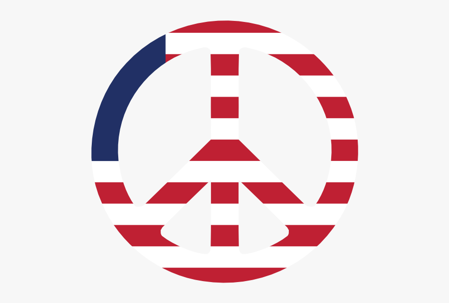 United States Us 13 Star Betsy Ross Flag Peace Symbol - Circle Transparent American Flag, Transparent Clipart