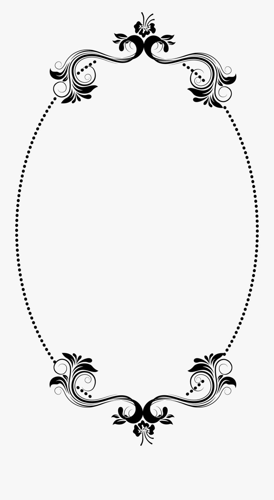 Black Oval Frame Png - Illustration, Transparent Clipart