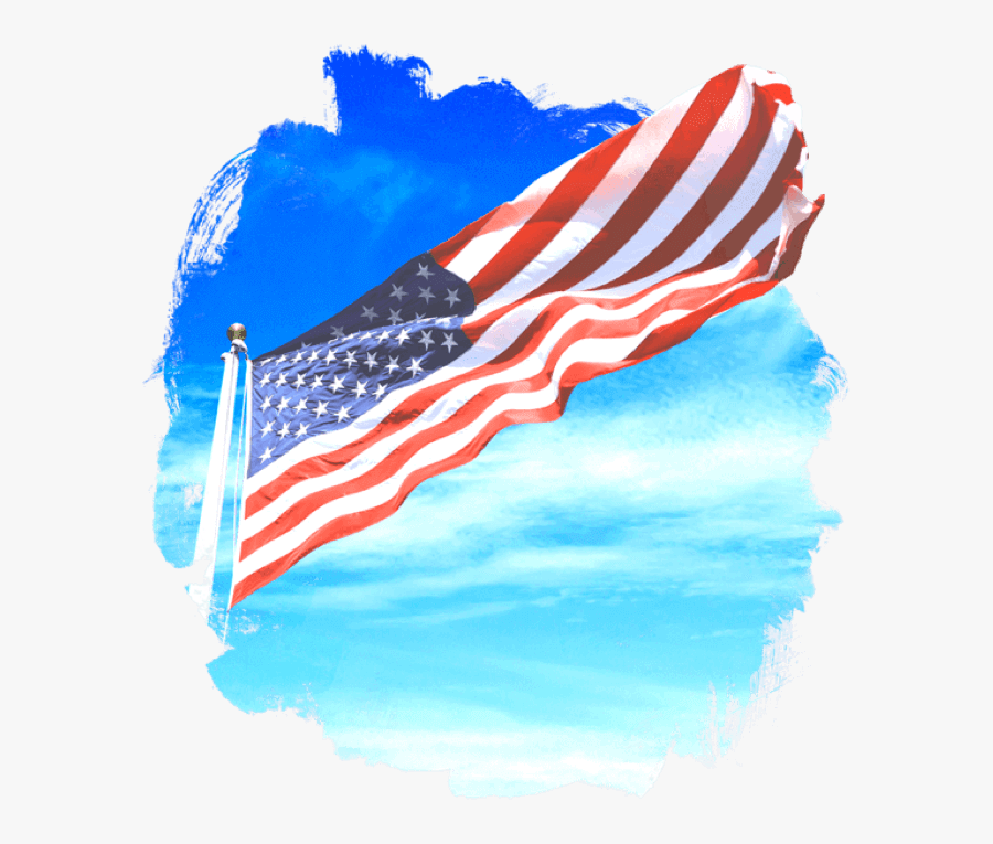Transparent Flagpole Png - Flag Of The United States, Transparent Clipart
