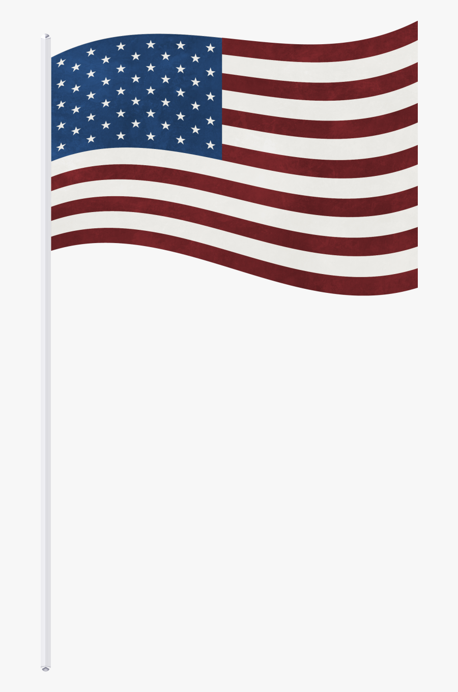 Clip Art Usa Png Clipart Picture - American Flag On Stick Png, Transparent Clipart