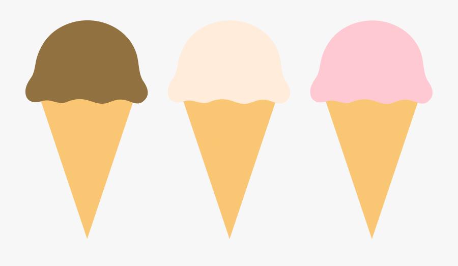 Ice Cream Clipart Border - Vanilla Chocolate Strawberry Ice Cream Clip Art, Transparent Clipart