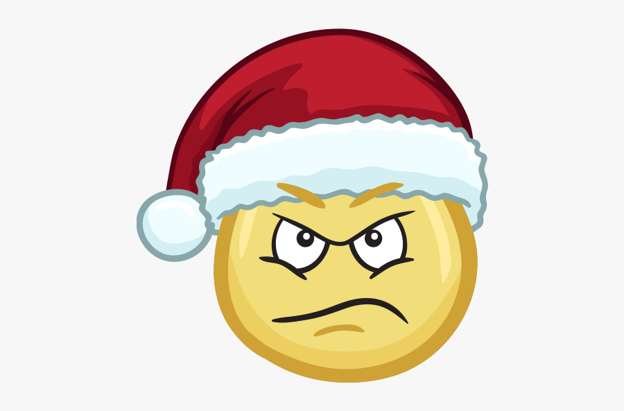 Merry Christmas Emojis - Indignant Clipart, Transparent Clipart