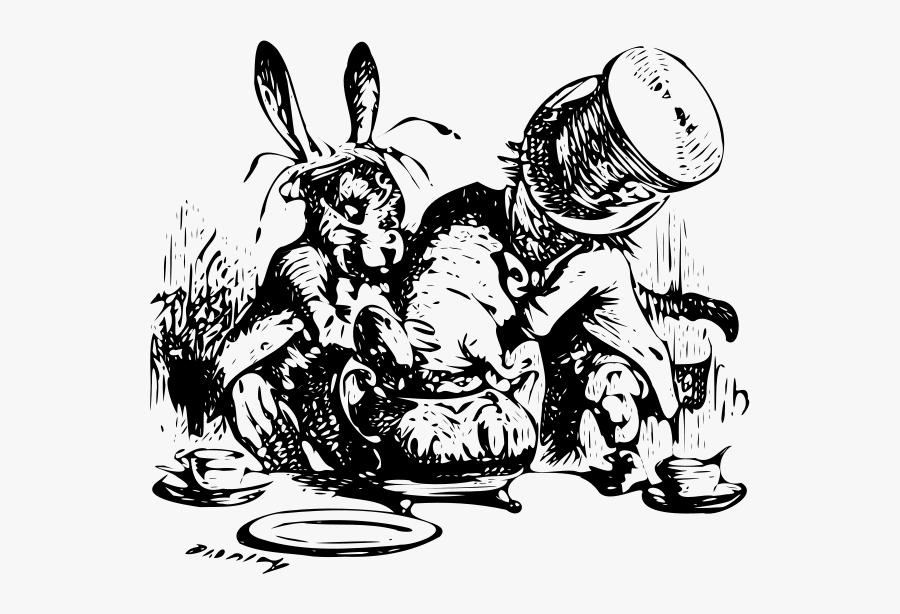 Alice 27 Png Images - Mad Hatter Tea Party Dormouse, Transparent Clipart