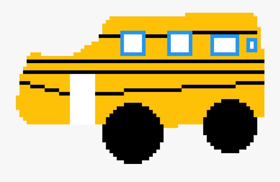 Time For The Bus - Pixel Art Chrome Logo, Transparent Clipart