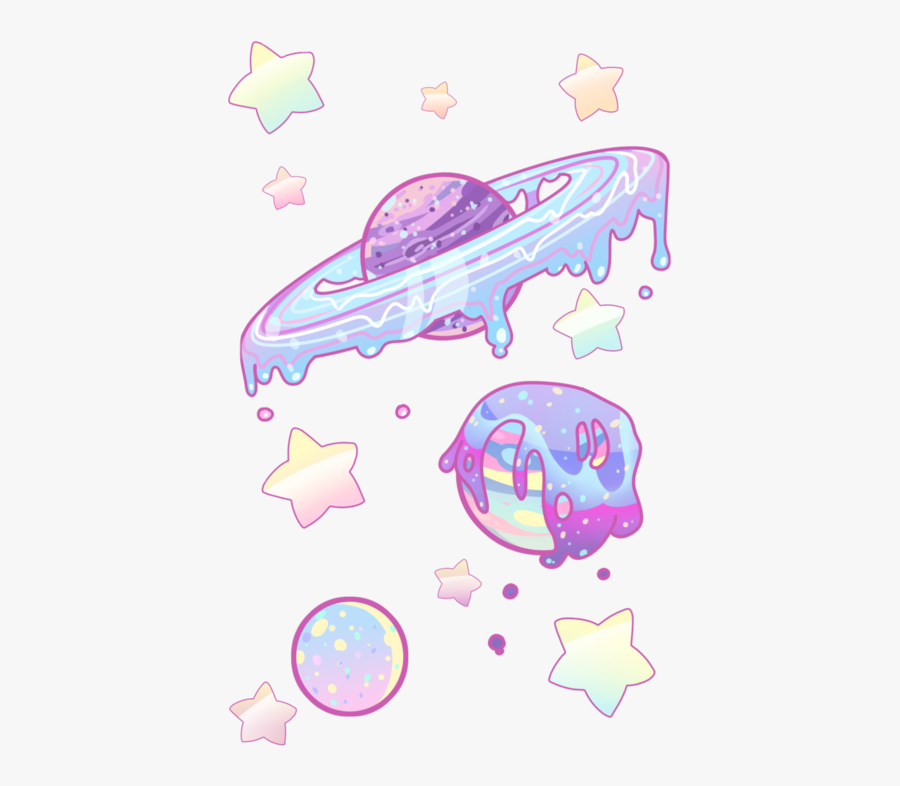 #planet #planets #galaxy #space #cartoon #pastel #stars - Png Cute, Transparent Clipart