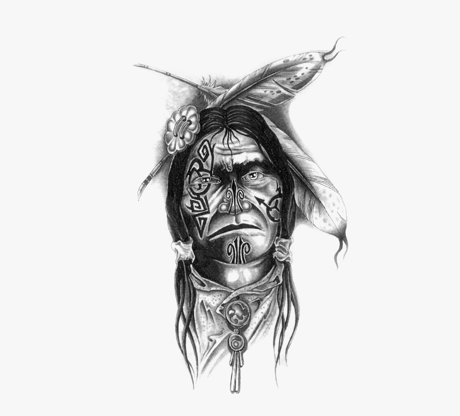 #tattoo #apache #indian #feather #blackart #blackandgrey - Men Native American Tattoos, Transparent Clipart
