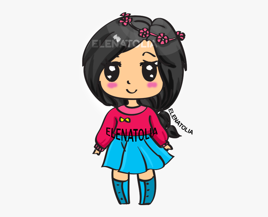 Step By Step How To Draw A Cute Girl, Transparent Clipart