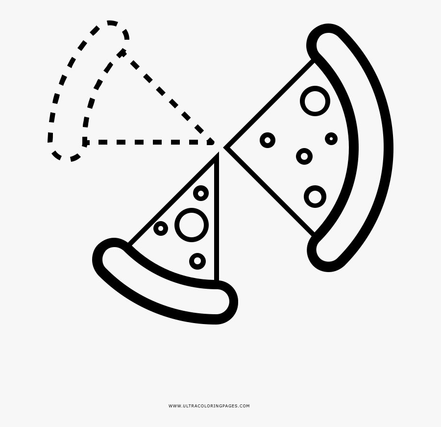 Pizza Slices Coloring Page, Transparent Clipart