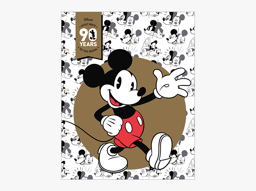 Mickey Mouse 90th Anniversary Licensed Stamp Pack Product - Mickey Mouse 90th Anniversary Logo, Transparent Clipart