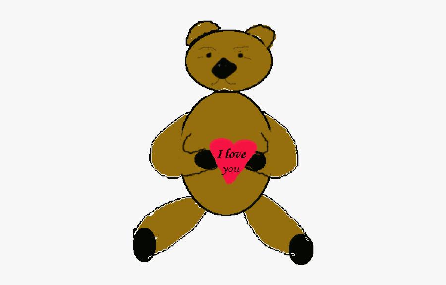 Free Vector Love Bear Clip Art - Love Bear, Transparent Clipart