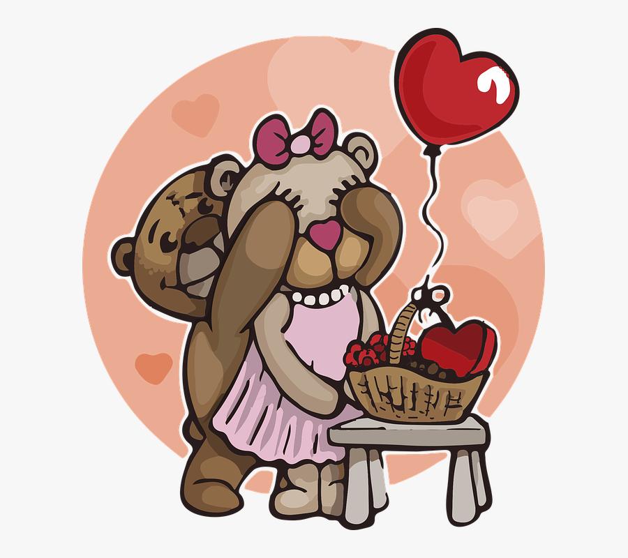 Teddy Bear, Love, Bears, Cute, Fluffy, Fur, Plush - Love You Fun Gif, Transparent Clipart