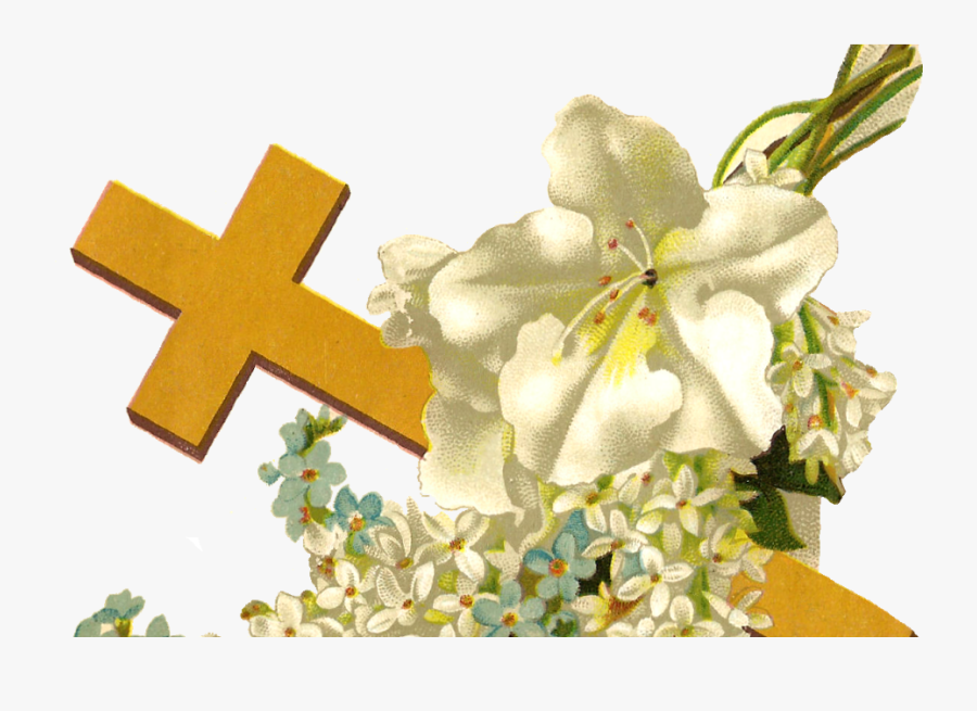 Cross Clipart Lily - Cross With Flower Png, Transparent Clipart