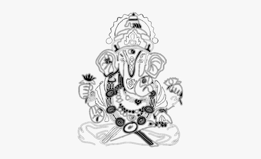Freetoedit Ganesha - Sketch, Transparent Clipart