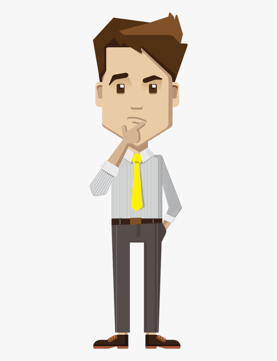 Man Clipart Thinking - Cartoon Business Man Png , Free ...