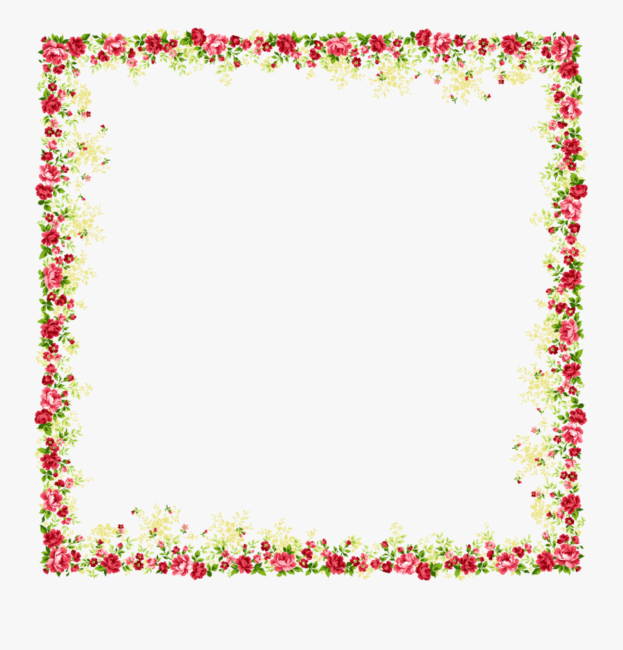 Flower And Butterfly Border Design Png - Flower Border Design Png, Transparent Clipart