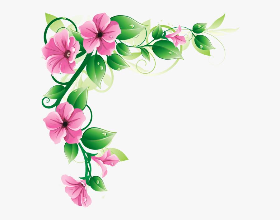 Flower Border Transparent Background, Transparent Clipart
