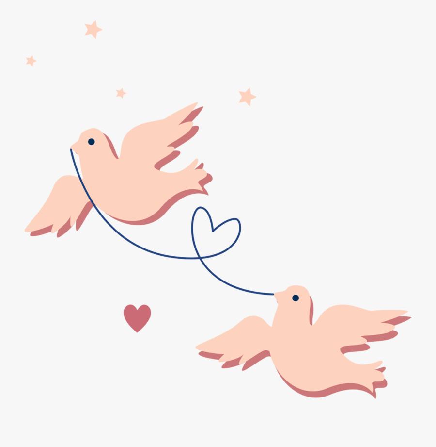 Pigeon Clipart Homing Pigeon Gambar Kartun Sepasang Burung