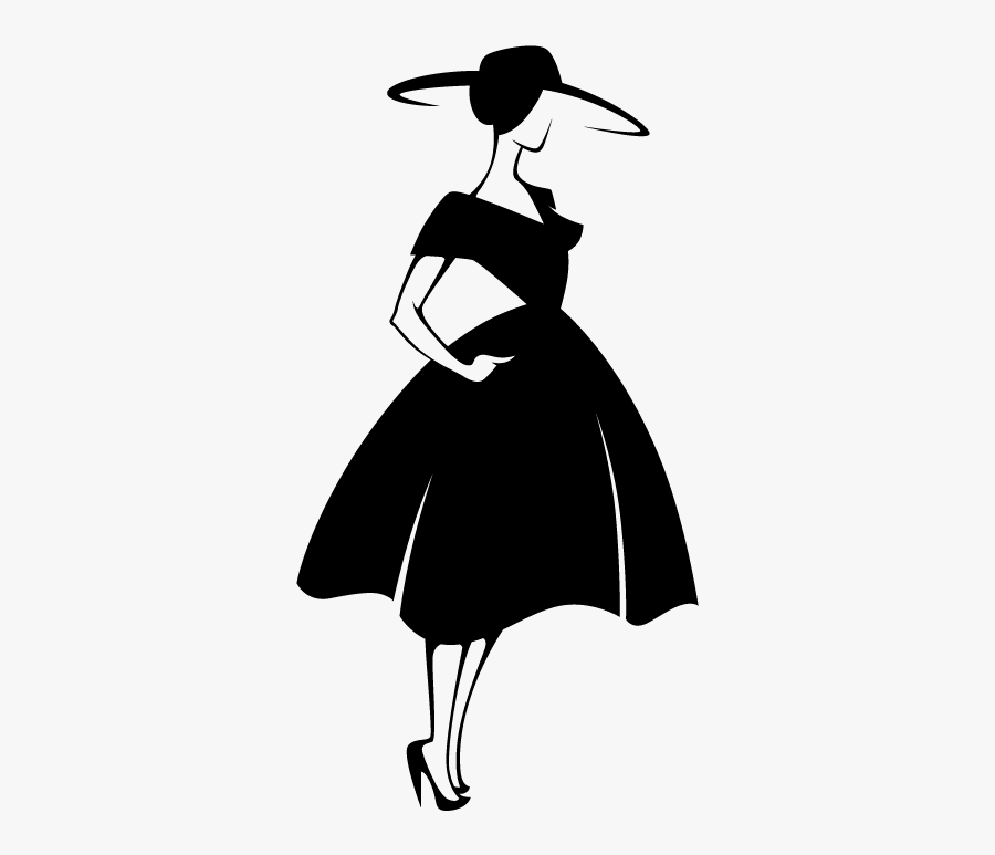 Fashion Model Silhouette - Fashion Illustration Silhouette Png, Transparent Clipart