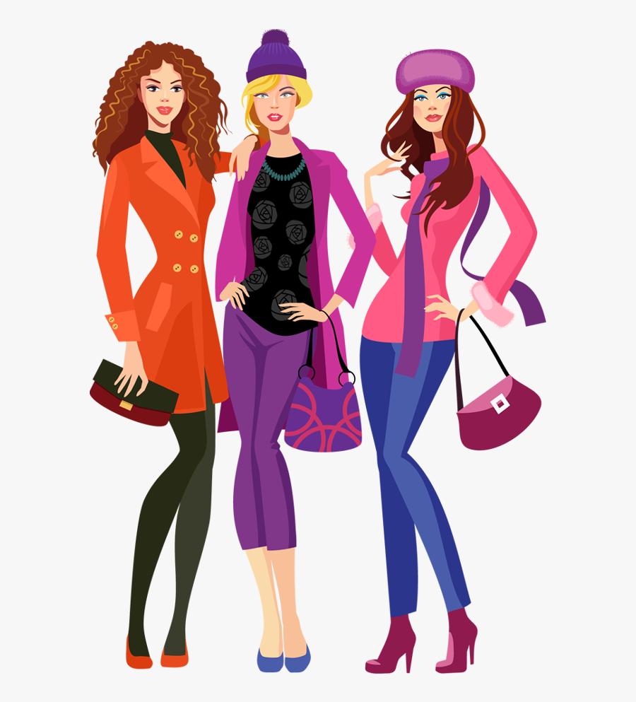 Shopping Portfolio Categories Designshop - Fashion Model Cartoon Png, Transparent Clipart