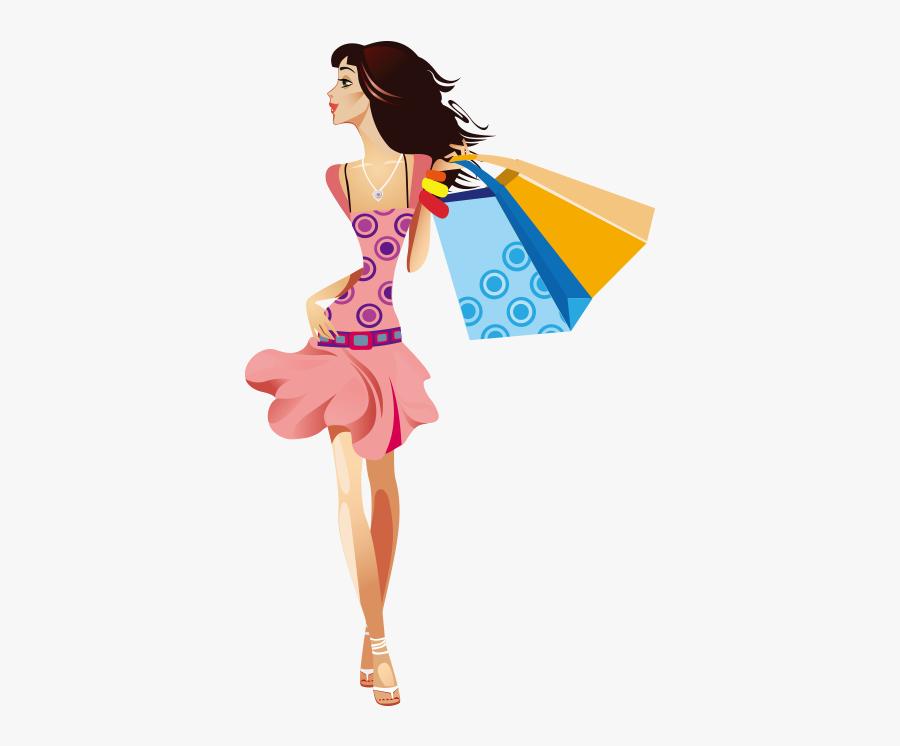 Girl Clip Art Fashionable - Vector Fashion Girl Girl, Transparent Clipart