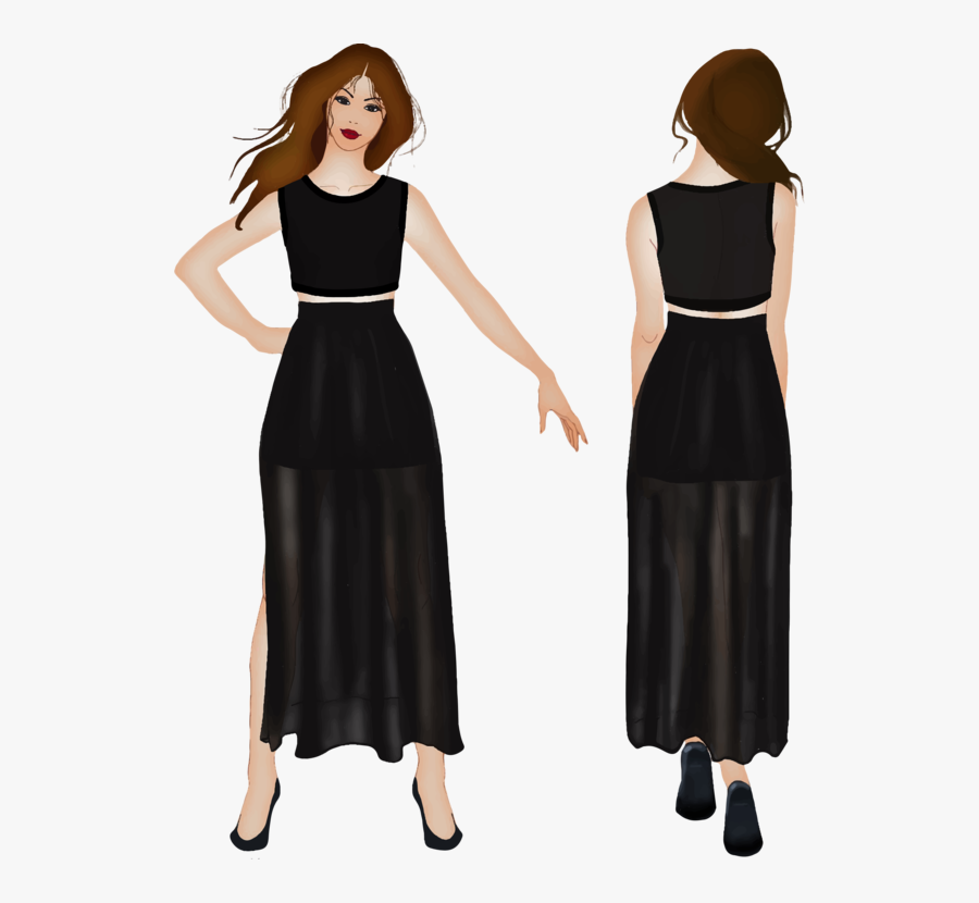 Back, Fashion, Female, Front, Girl, View, Woman - Woman Front And Back Png, Transparent Clipart