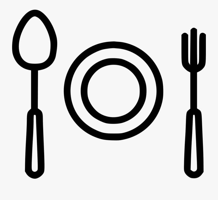 Plate Spoon Fork Egg Recipe Comments - Spoon, Transparent Clipart
