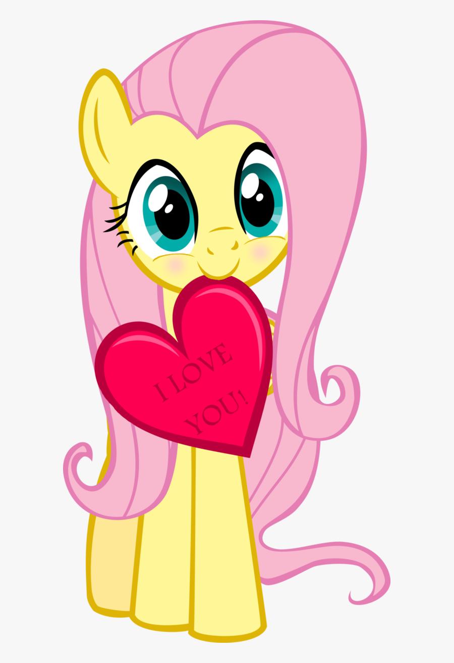 I Love You Fluttershy Rainbow Dash Applejack Rarity - Fluttershy And Twilight Sparkle, Transparent Clipart