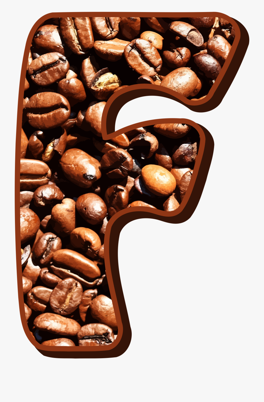Coffee,commodity,food - Coffee Beans Letter C, Transparent Clipart