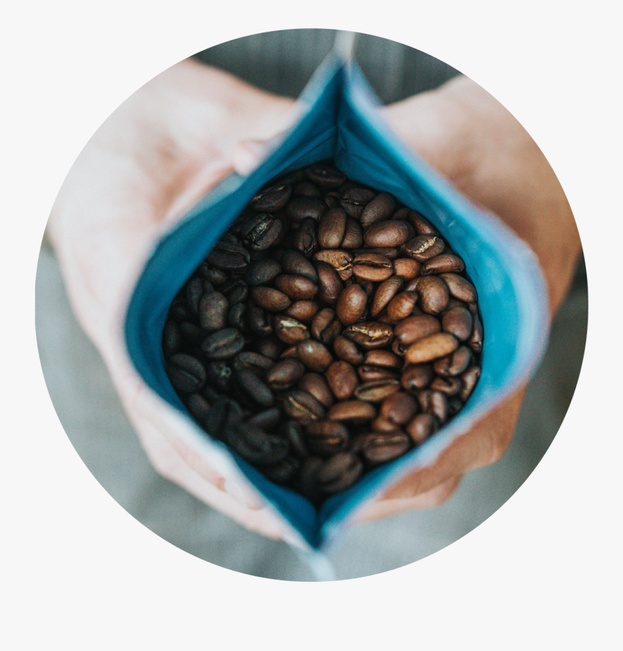 Open Bag Coffee, Transparent Clipart