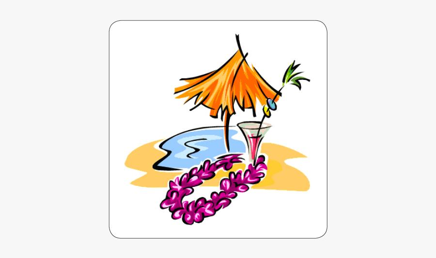 5th Luau - Hawaiian Theme Party Invitation Cards Template, Transparent Clipart