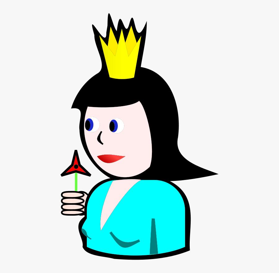 Simple Queen Of Spades, Transparent Clipart