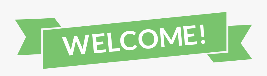 Green Welcome Banner - Welcome Transparent Png, Transparent Clipart