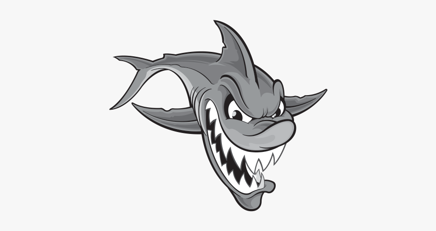 Typographic Drawing Shark - Shark Attack Draw, Transparent Clipart