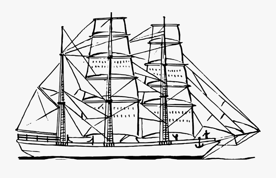 Free Printable Boat Coloring Pages For Kids Boats Ships - Ship Line Drawing, Transparent Clipart