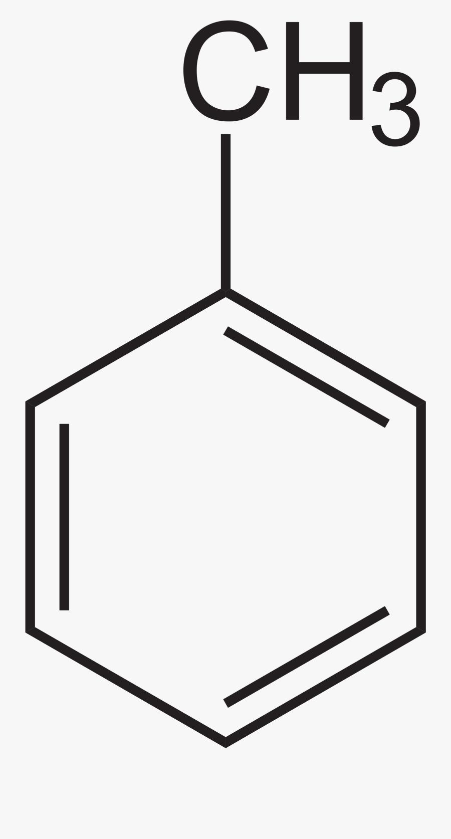 File - Toluol - Svg - Formule Semi Développée Toluène - 2 Amino 3 Methyl 1 Butanol, Transparent Clipart