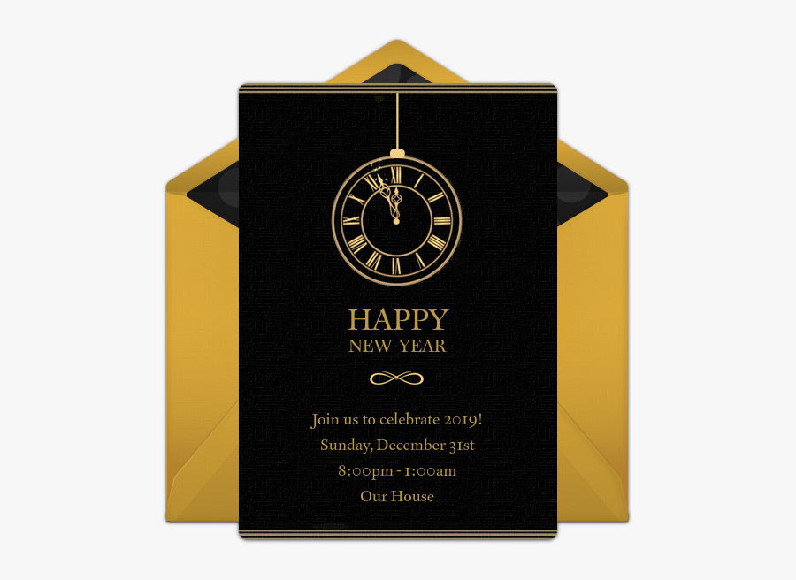 Transparent New Year Clock Png - Wall Clock, Transparent Clipart