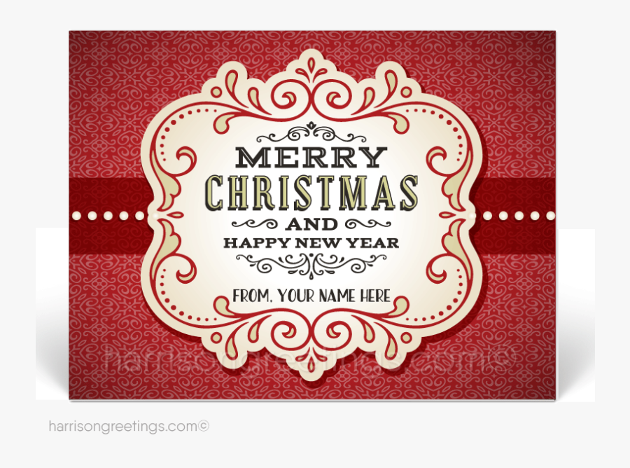 Vintage Christmas Holiday Postcards For Customers [pc645] - Label, Transparent Clipart