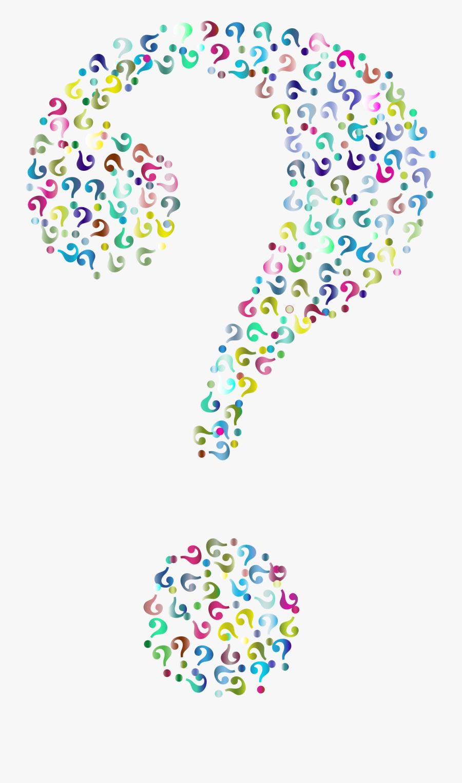 Clip Art Prismatic Mark Fractal No - Question Mark Of Question Marks, Transparent Clipart