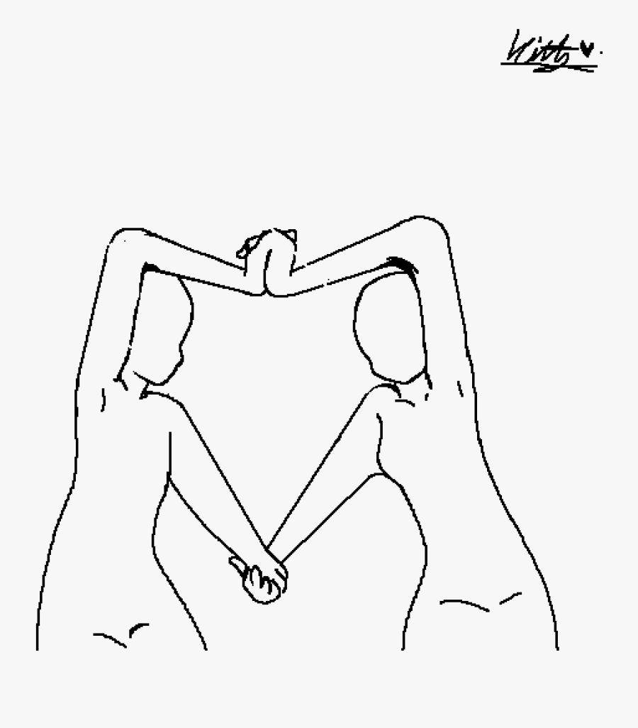 Best Friends Drawing Base, Transparent Clipart