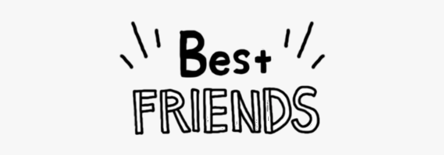 Words Transparent Bff - Best Friends Png Text, Transparent Clipart