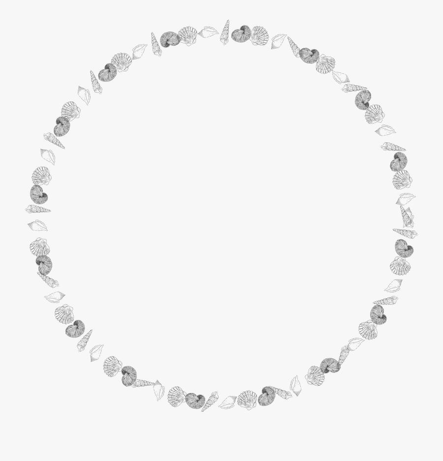 Shell Clipart Frame - White Circle Frame Transparent, Transparent Clipart