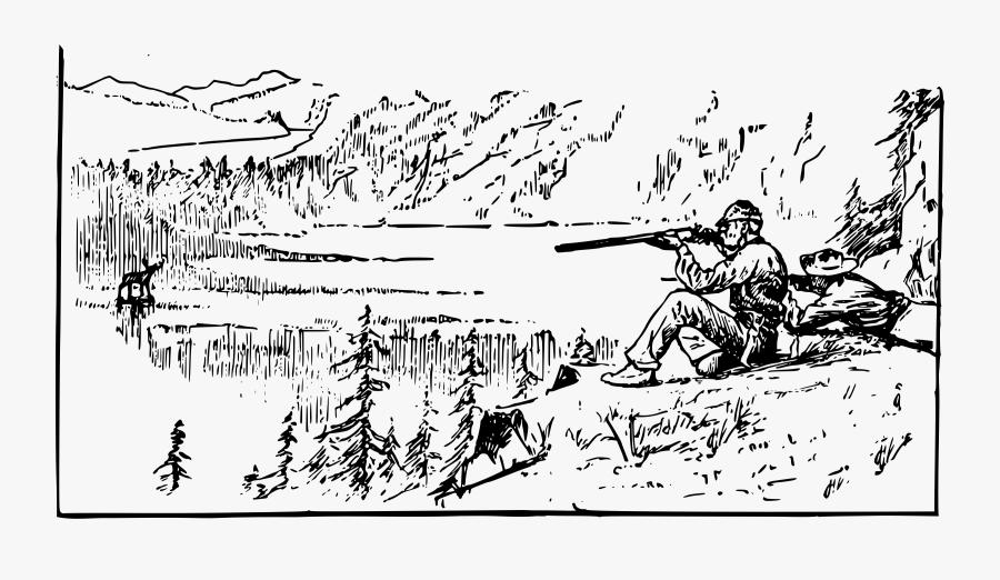 Canadian Hunter Clip Arts - Shoot Rifle, Transparent Clipart