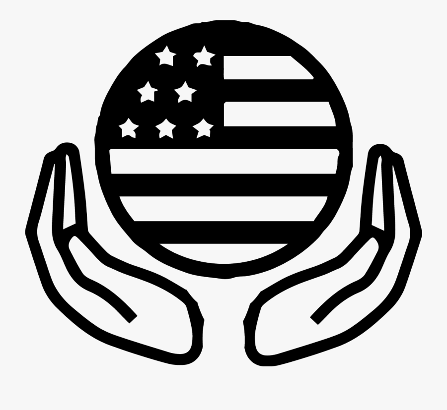 Usa Flag Icon Black And White, Transparent Clipart