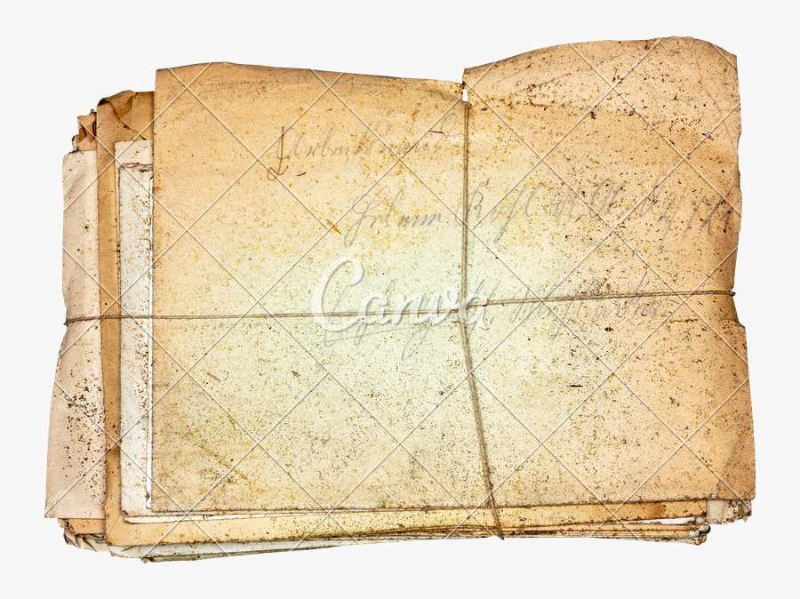 Old Letters Png - Book Cover, Transparent Clipart